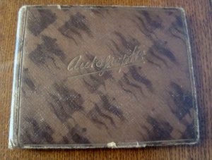 Mum's autograph book